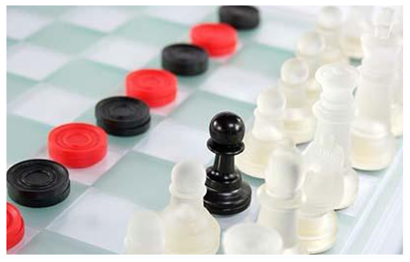 Image result for checkers vs chess